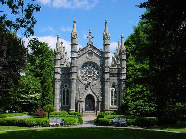 Mount Auburn Cemetery Garden, Massachusetts