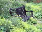 Medium black bench original
