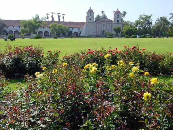Roses, Santa Barbara Mission Garden