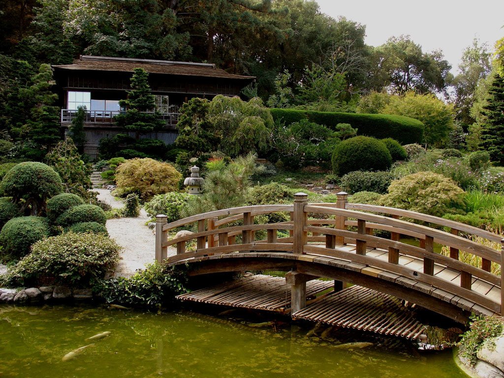 Bridge, Hakone Gardens