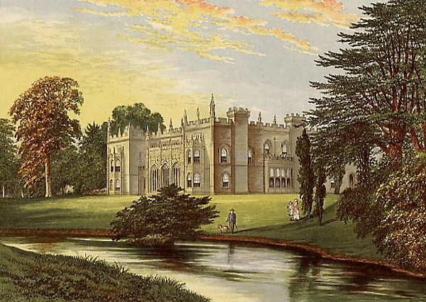 Arbury Hall Garden F.O. Morris (1880)