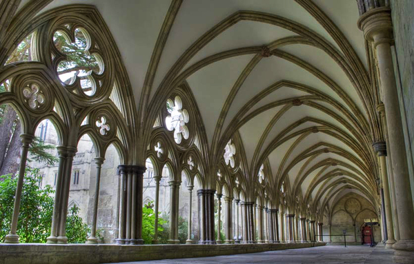 Salisbury Cathedral Cloister Garden ajoh198