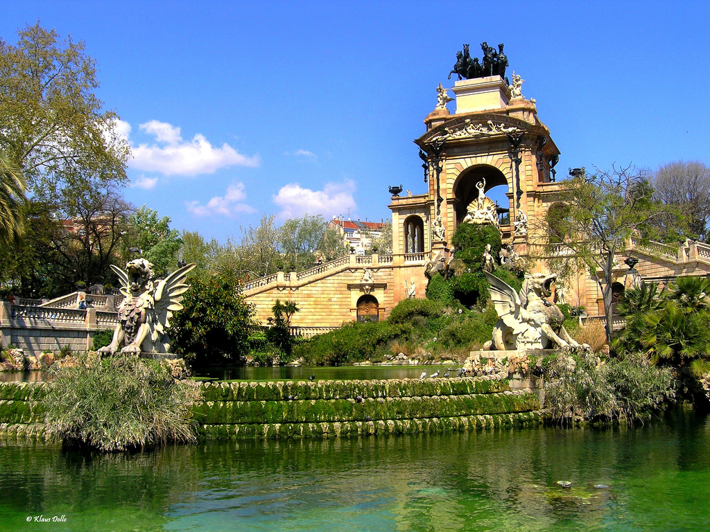 Parc de la ciutadella for Barcelona jardin gaudi
