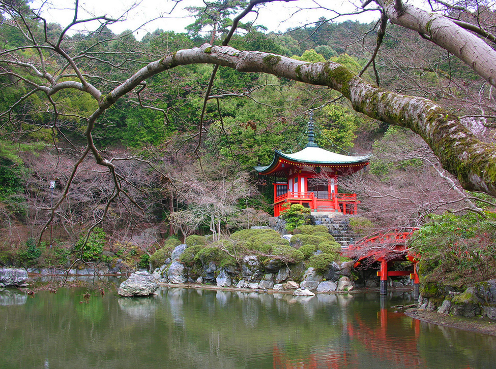 Daigo sambo in palace garden for Gardens in japan