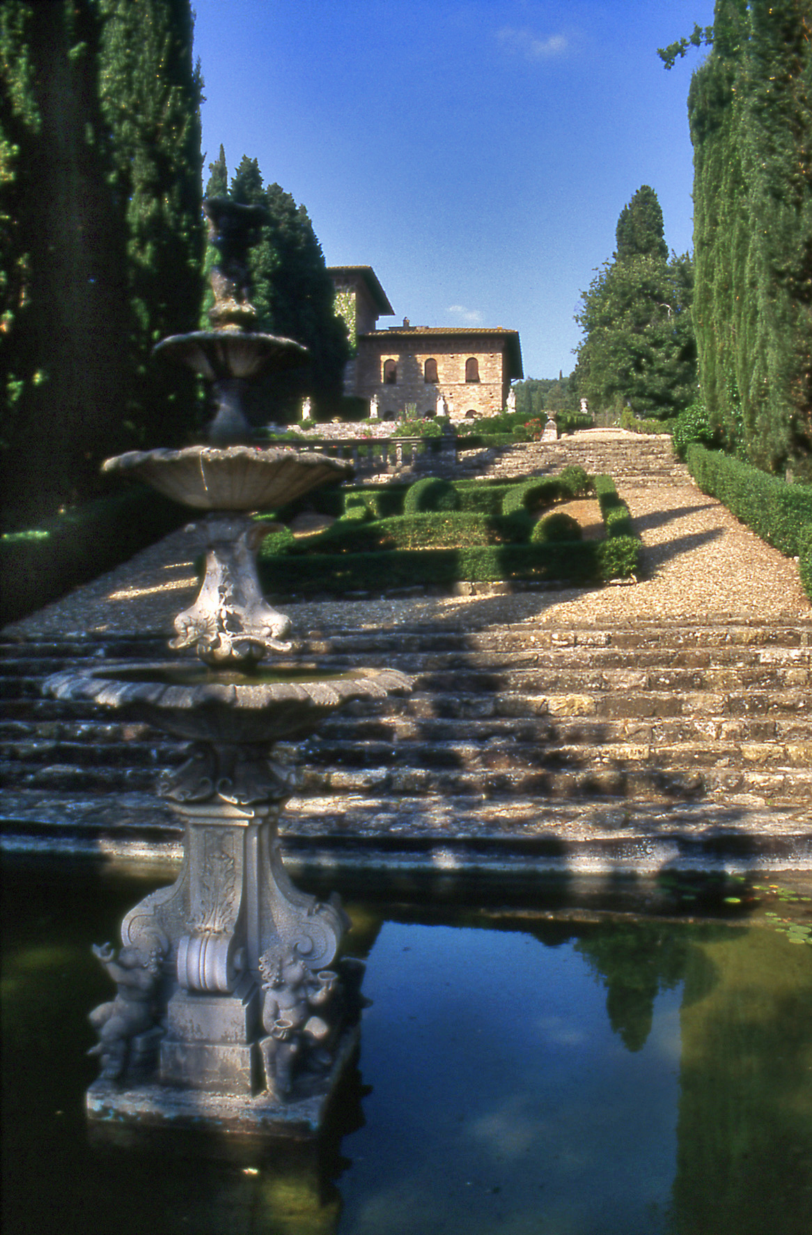 Peyron villa garden for Gardens and villa