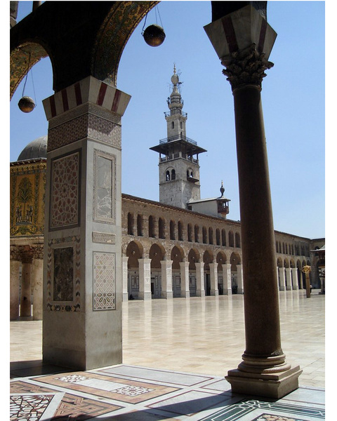 Umayyad Mosque Courtyard Damascus