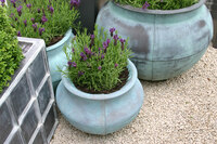 Medium fibreglass planters original