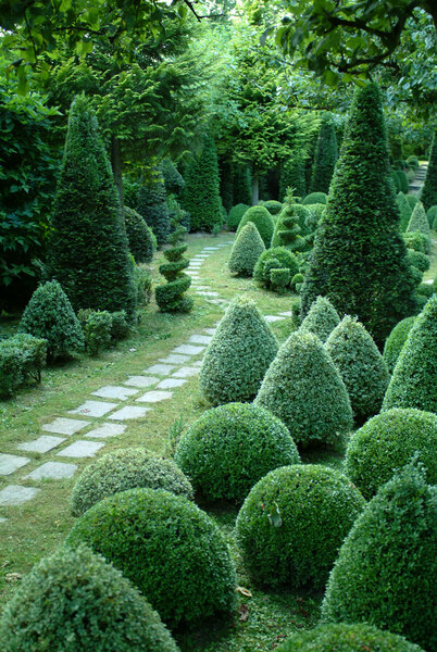 Topiary, Jardins de Sericourt