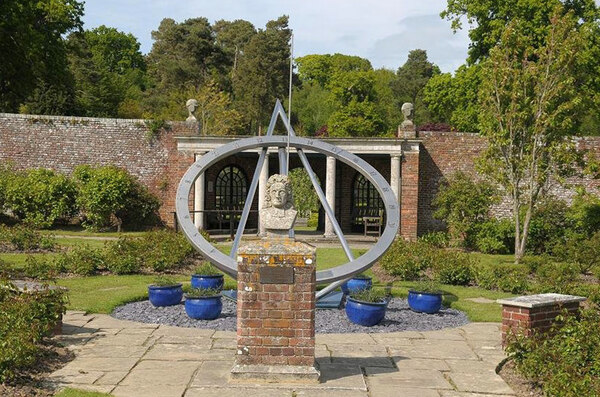 Sundial, Herstmonceux Castle Garden