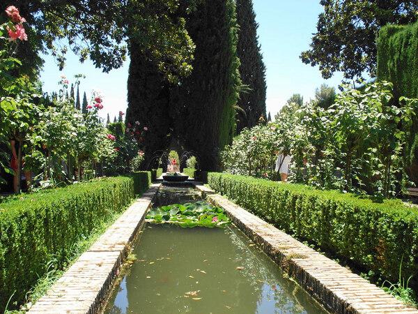 Canal, Generalife Garden