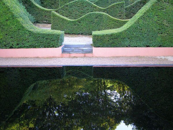 Reflecting Pool, Veddw House Gardens
