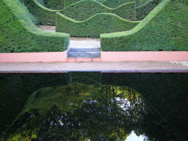 Reflecting Pool, Veddw House Gardens