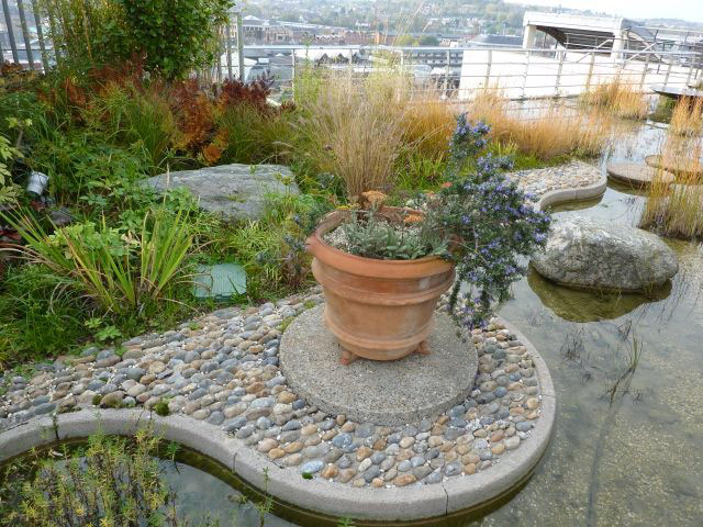 Pond, Jellicoe Roof Garden