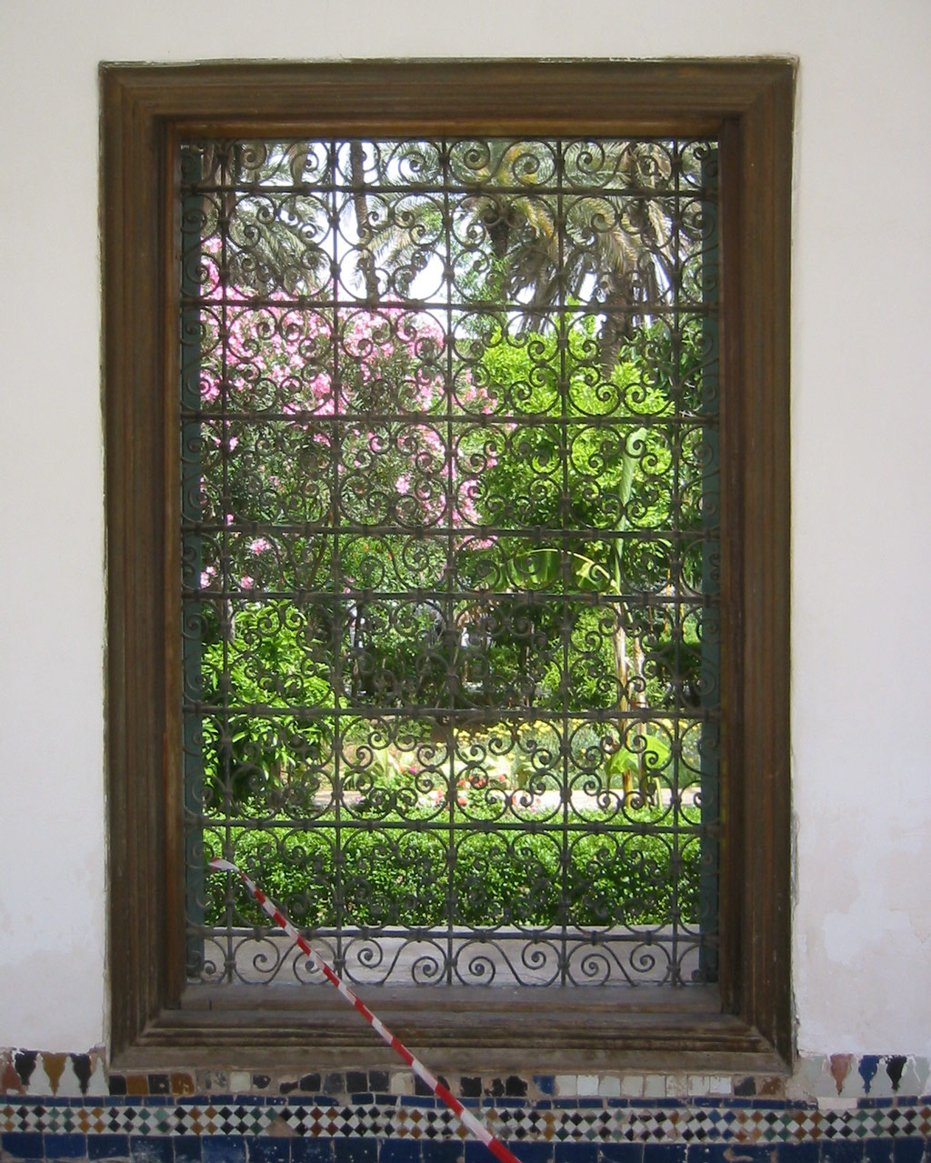 Window, El Bahia Palace