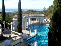Medium hearst castle garden california original