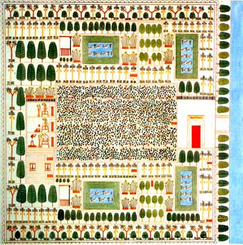 Egyptian garden plan, by Sennefer (Sennefur)