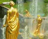 Medium gilded fountain original