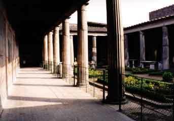 Pompeii peristyle garden