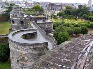 Angers chateau garden