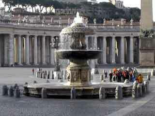Vatican fountain1
