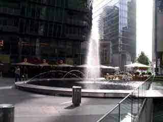 Sony center fountain