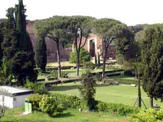 Baths caracalla garden