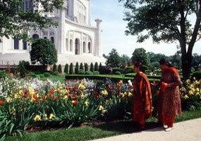 Bahai temple garden