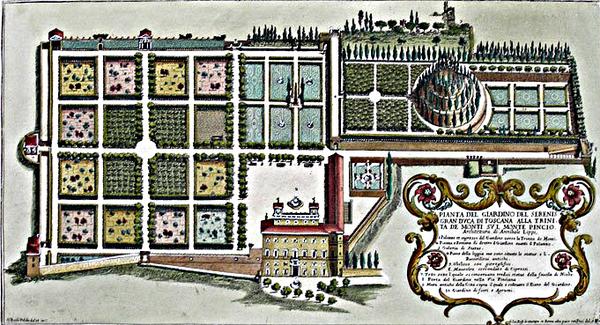 Villa Medici Roma, by GB Falda