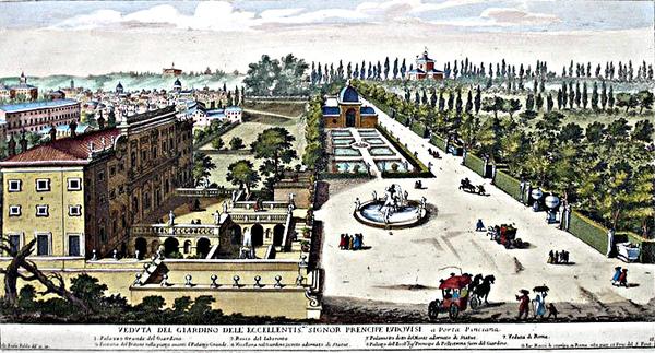 Garden of Villa Ludovisi Rome