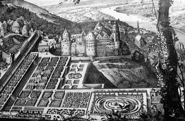 Garden Plan, Heidelberg Schlossgarten